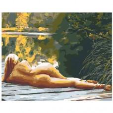 Картина по номера - Дама на кея ZG-0162