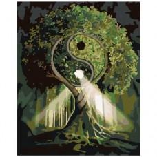 Картина по номера - Ин ян дърво ZG-0138