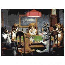 Картина по номера - Кучета, които играят карти ZG-0244