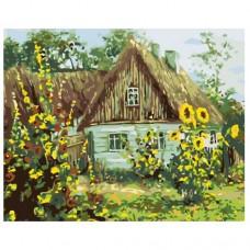 Картина по номера - Къща със слънчогледи ZG-0172