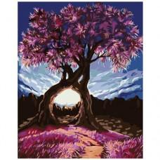 Картина по номера - Розово дърво ZG-0140