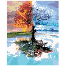 Картина по номера - Цветно дърво ZG-0210