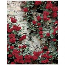 Картина по номера - Червени цветя ZG-0144