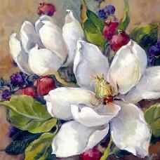 Картина по номера - Бяли цветя  ZP-031