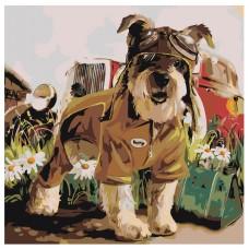 Картина по номера - Кучето пътува ZP-027