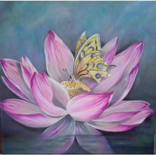 Картина по номера - Пеперуда и водна лилия  ZP-056