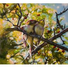 Картина по номера - Птичи любов  ZP-086