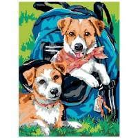 GI 304105 Диамантен гоблен - Кучета