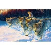 GI 304134 Диамантен гоблен - Глутница вълци