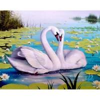 GI 304138 Диамантен гоблен - Лебеди
