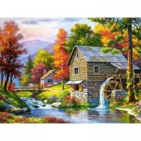PZ 304106 диамантен гоблен - Къща до реката