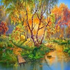 PZ 304154 Диамантен гоблен - Есенно езерце