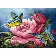 FL 304095 Пеперуда и цветя - Диамантен гоблен