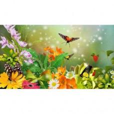 FL 304099 Цветни пеперуди - Диамантен гоблен