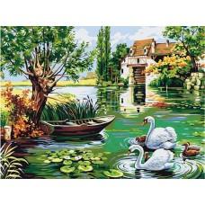 Лебеди на езерото - Картина по номера - GX 5289