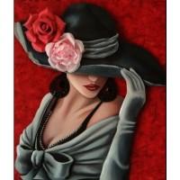 Дама в шапката - Картина по номера - EX 7290