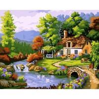 Къща до реката - Картина по номера - EX 7294