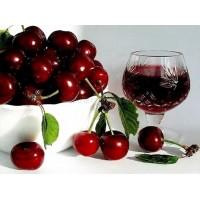 Червена череша с вино -Диамантен гоблен RZ 305012