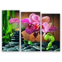 TRP 0008 Диамантен гоблед- триптих Орхидея
