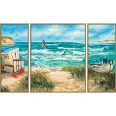 TRP 0004 Диамантен гоблен- триптих Ах морето