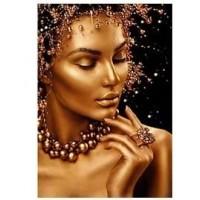 Черно и златно- диамантен гоблен LD 304066